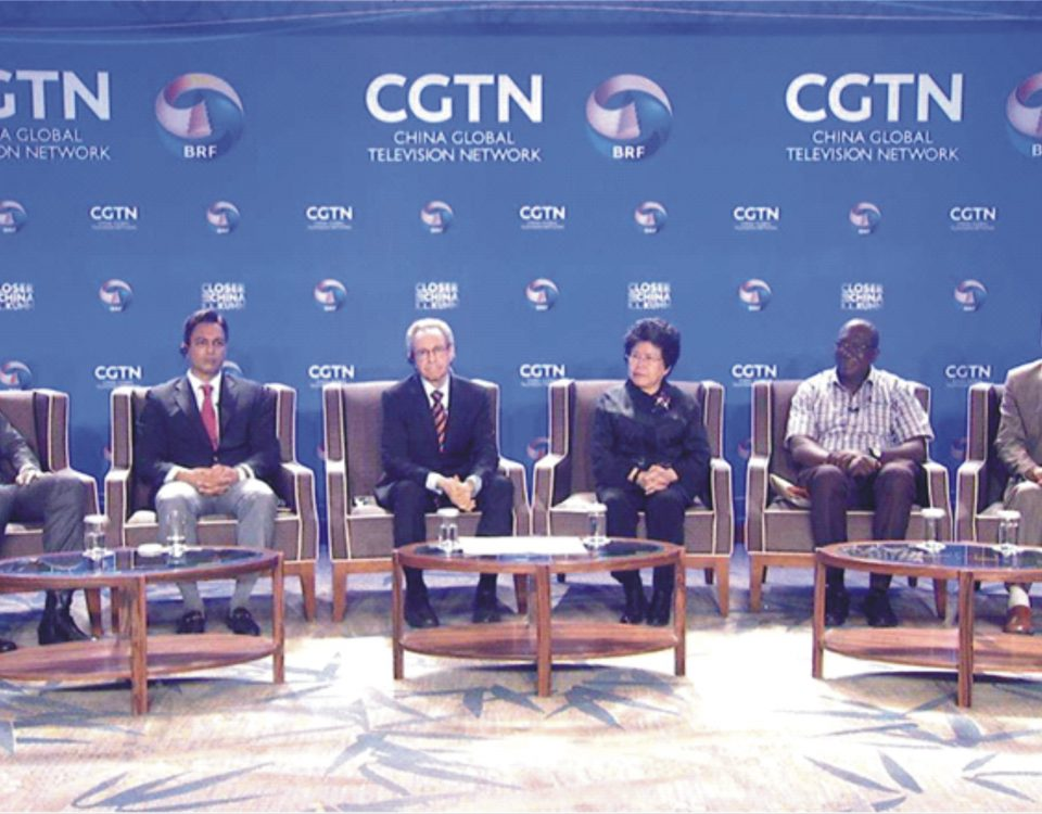 Mr. Onunaiju, (second from left) in a panel discussion on the Belt and Road in Beijing, China.