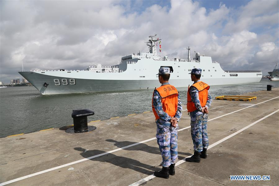 Ships carrying Chinese military personnel depart Zhanjiang, south China's Guangdong Province, July 11, 2017. They are to set up a support base in Djibouti. The establishment of the People's Liberation Army Djibouti base was a decision made by the two countries after friendly negotiations, and accords with the common interest of the people from both sides, according to the PLA navy.
