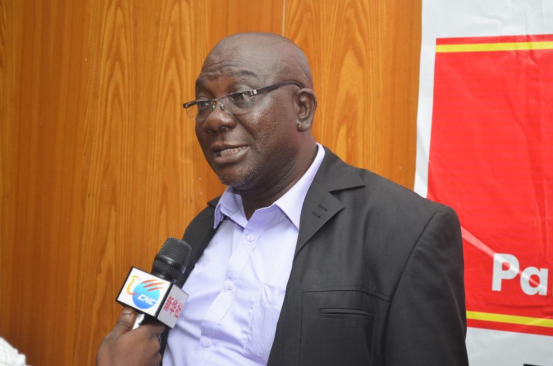 Director of CCS, Mr. Charles Onunaiju addressing journalists